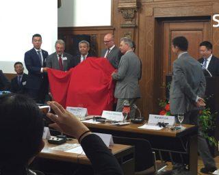 Empfang der chinesischen Delegation der Stadt Wuhan im Duisburger Rathaus am 30.05.2016