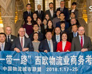 "Empfang der chinesischen ""One Belt One Road"" Europa Logistik & Geschäft Ermittlung Delegation im Duisburger Rathaus am 22.01.2018"